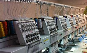 New 2015 (New) ButterFly B-1208B/T commercial embroidery machine - ID#1003, 8 Heads, 12 Needles www.TheEmbroideryWarehouse.com
