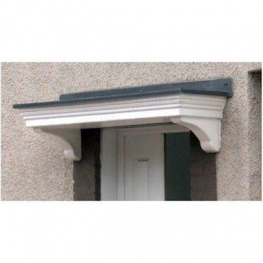 Epsom Flat Lead Effect Roof GRP Door Canopy