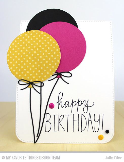 Birthday Wishes & Balloons, Blueprints 26 Die-namics - Julie Dinn  #mftstamps