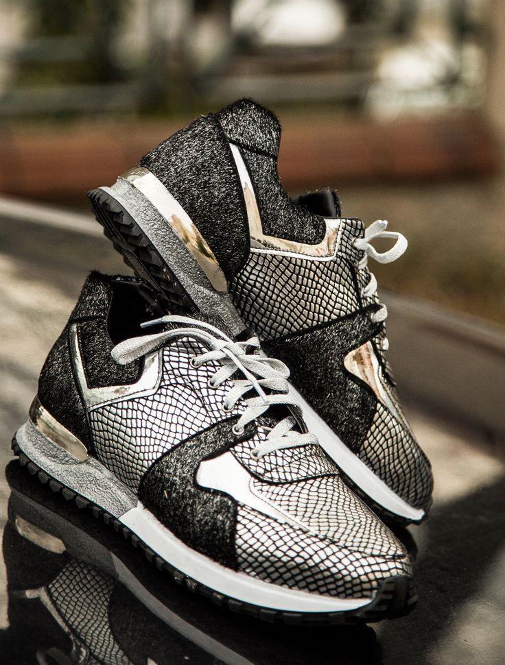 SPOR AYAKKABI Sprint Gümüş Yılan Spor Ayakkabı