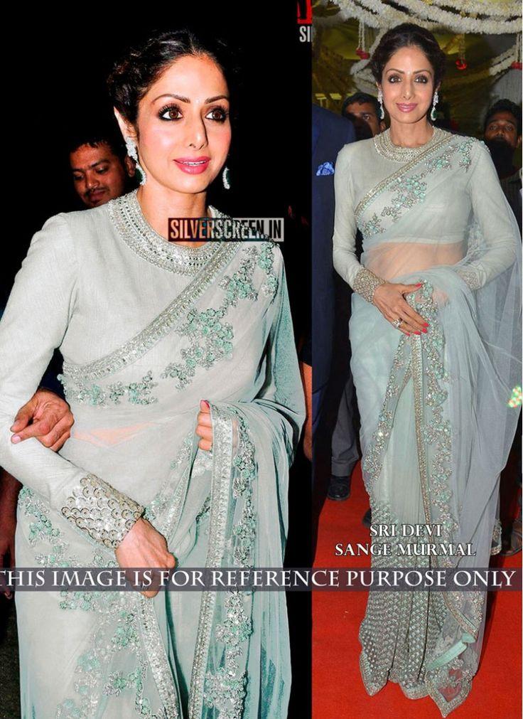Sridevi Bewildering Grey Designer Saree
