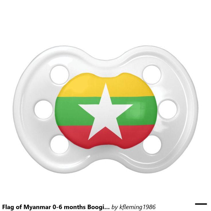 Flag of Myanmar 0-6 months BooginHead® Pacifier BooginHead Pacifier