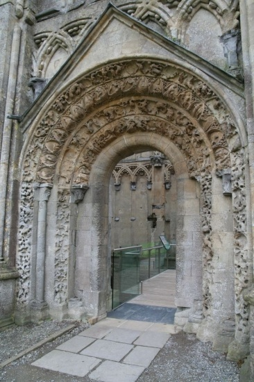 Glastonbury Abbey  Portal of Lady Chapel