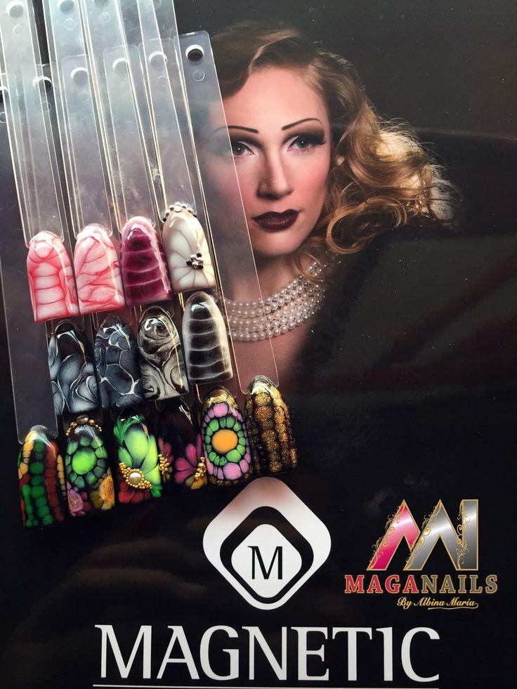 Gel, One Coat Color, Nail Art, Magnetic Nails, Maga