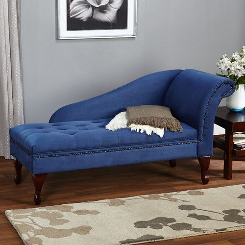 77 best chaise chair images on Pinterest Chaise lounges, Joss - blue living room chairs