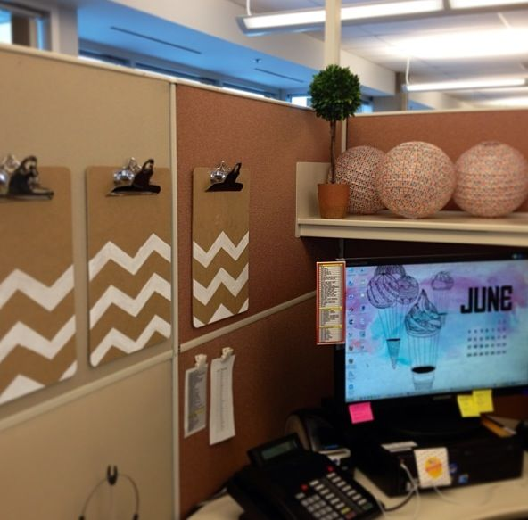 Cubicle Décor Ideas To Make Your Home Office Pop: 127 Best Cube It! Images On Pinterest