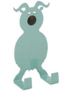 FARMHOUSE goat er en smuk støvet turkis ged med lange snoede horn. FARMHOUSE goat is a cute dusty turquoise-colored animal with long twisted horns. #morfo #morfodesign #morfodk #danishdesign #designforkids #interior #hooks