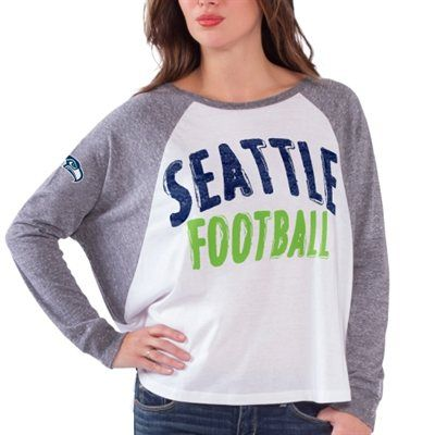 Seattle Seahawks Women's Kickoff Long Sleeve T-Shirt - White