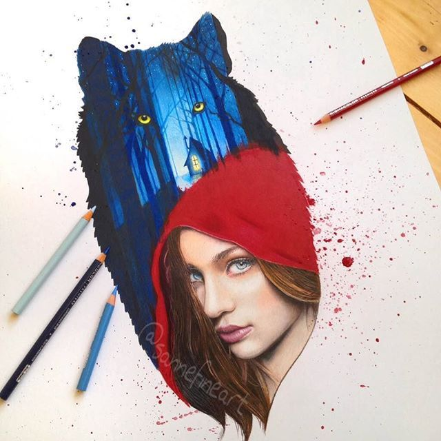 "Finished my ""Little red riding hood"" Have a great weekend!"