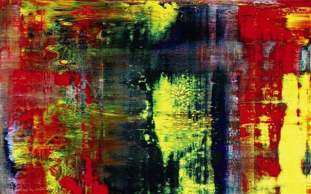 Gerhard Richter, i find an amazing and interesting artist. This 'Abstraktes Bild' looks like to me the vibrating waves in a river and the surrounding of coldness around it.