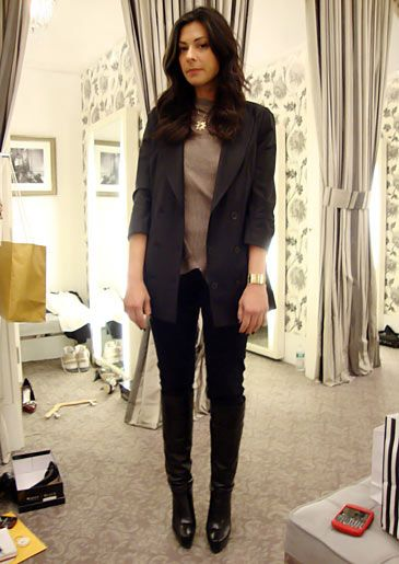 Stacy London Fashion Lookbook: What Not To Wear: TLC. Love the gold here