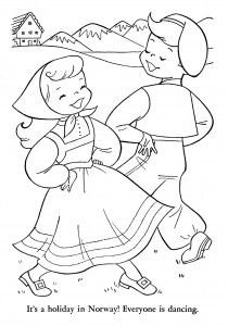 Norwegian Coloring Page