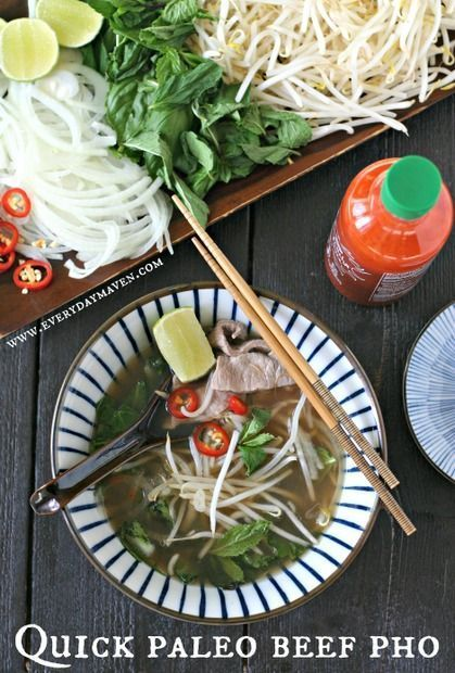 This Quick Beef Pho (Paleo) is a nourishing one-pot meal, perfect for a cold fall evening!