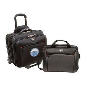 "Wenger - POTOMAC 2-Piece Business Set The 2-in-1 Potomac includes a wheeled case with a comfort grip trolley handle and superior interior organization and a removable day case for everyday essentials 17""W x 15.5""H x 10""D - Price: $98.00 (Show Special Price) (Qty: 95)"