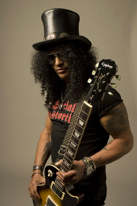I thank my many smiles to this man and his guitar...from GnR, Solo, or Velvet Revolver...The Living Legend