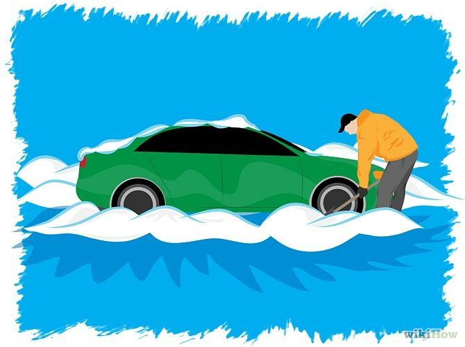 How to Get Your Car Out of the Snow #winter