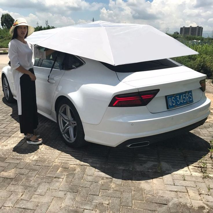 Outdoor Waterproof Folded Portable Car Canopy Cover Half Automatic Awning Tent Car Cover Anti-UV Sun Shelter Car Roof Tent #Outdoor, #Waterproof, #Folded, #Portable, #Canopy, #Cover, #Half, #Automatic, #Awning, #Tent, #Anti-UV, #Shelter, #Roof