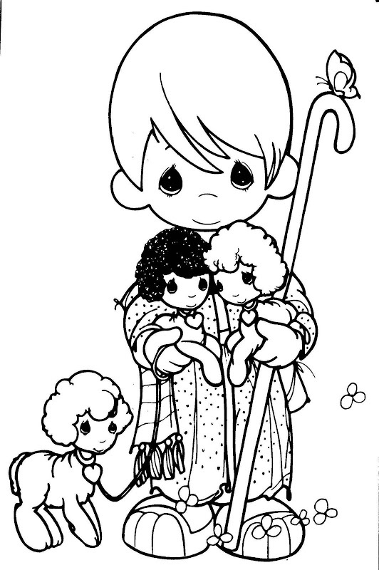 1000 images about printable images precious moments on for The lord is my shepherd coloring page