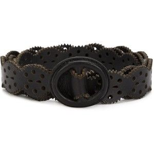 Carolina Herrera perforated leather belt