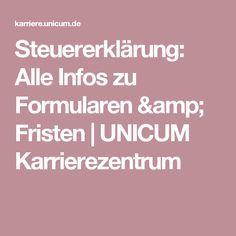 Steuererklärung: Alle Infos zu Formularen & Fristen | UNICUM Karrierezentrum