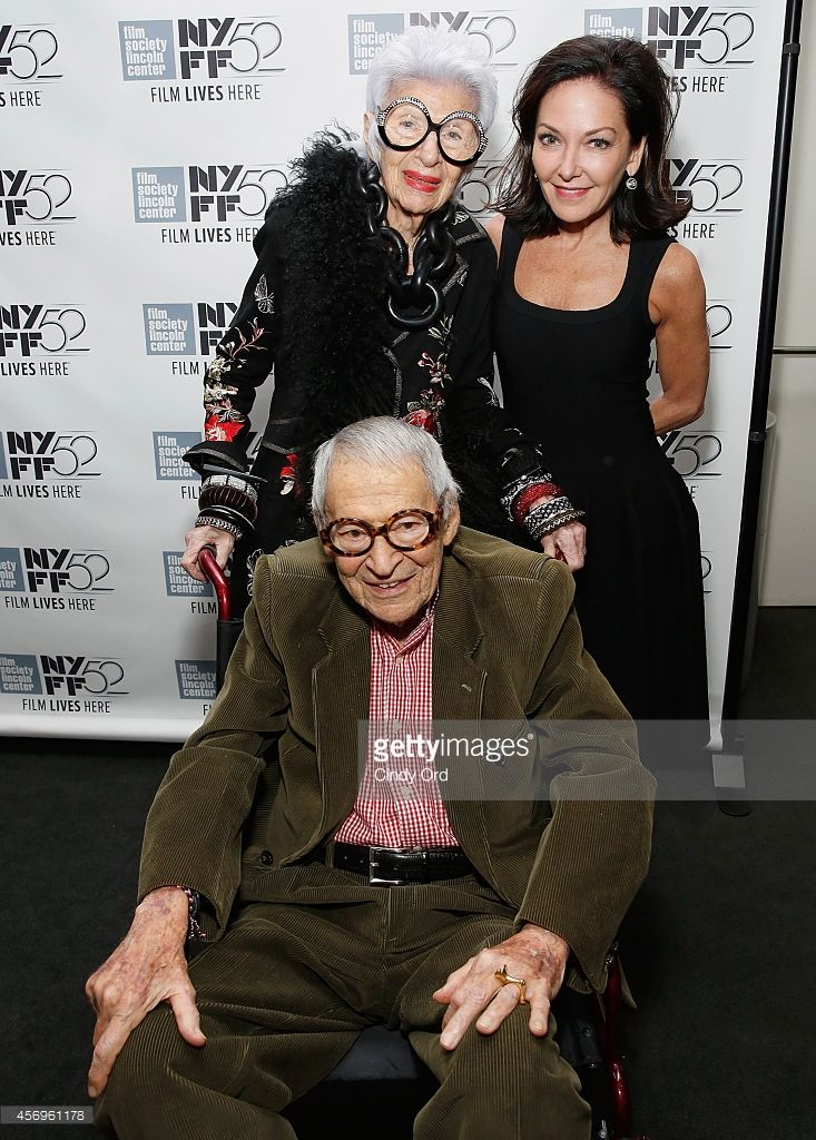 Iris Apfel, Margaret Russell and Carl Apfel attend the 'Iris' photo... News Photo | Getty Images