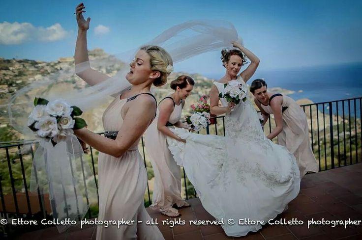 Condizioni meteorologiche avverse :-D  Irish wedding in Sicily -Taormina  ETTORE COLLETTO - fotografo per matrimoni - Sicilia