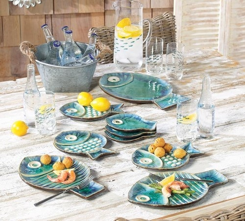 Malibu Fish Plates - tropical - dinnerware - RSH Catalog