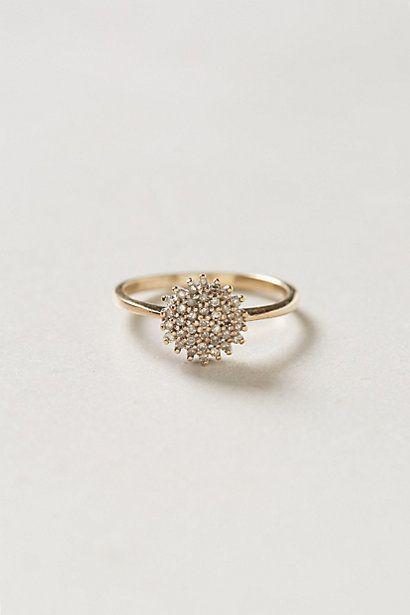 Vintage Diamond Snowburst Lovers Ring by #shopFiligree #anthropologie