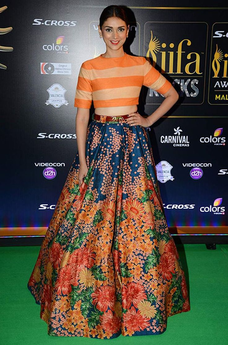 Aditi Rao Hydari in a Sabysachi lehenga - Indian fashion - Indian couture - fashion - crop top - skirt