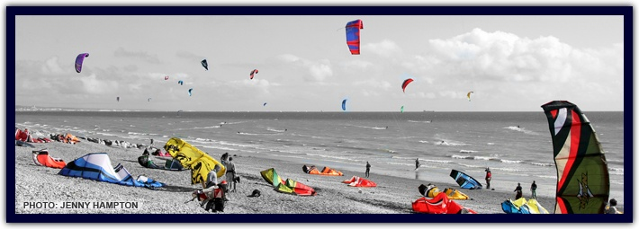 Lancing kitesurfing club - BnB and also have beach webcam