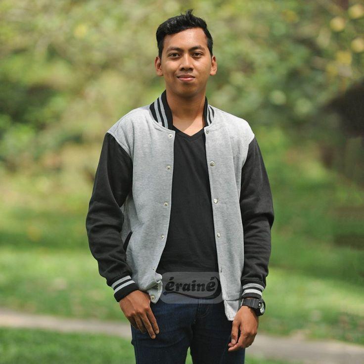 Varsity Jacket Grey Black