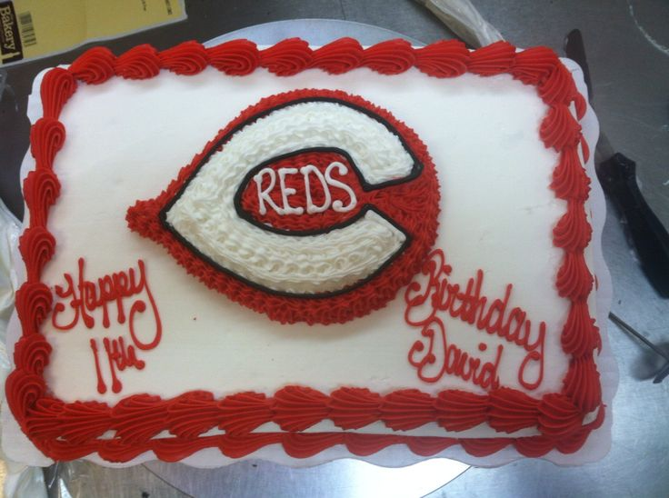 Cake Decorating Store Cincinnati : 17 Best ideas about Cincinnati Reds Cake on Pinterest ...