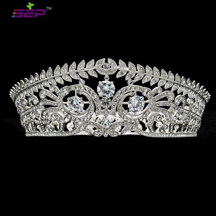 Olive Branch Tiaras Crown for Wedding Accessories Really Austrian Crystals Zircon Prom Jewelry SHA8696