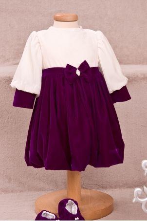 "Velvet christening dress for the cold season, ""Eva"", form the ""Grandma's Chest"" collection.  http://www.petitecoco.ro/shop/en/pret-a-jouer/53-eva-baby-girl-dress.html"