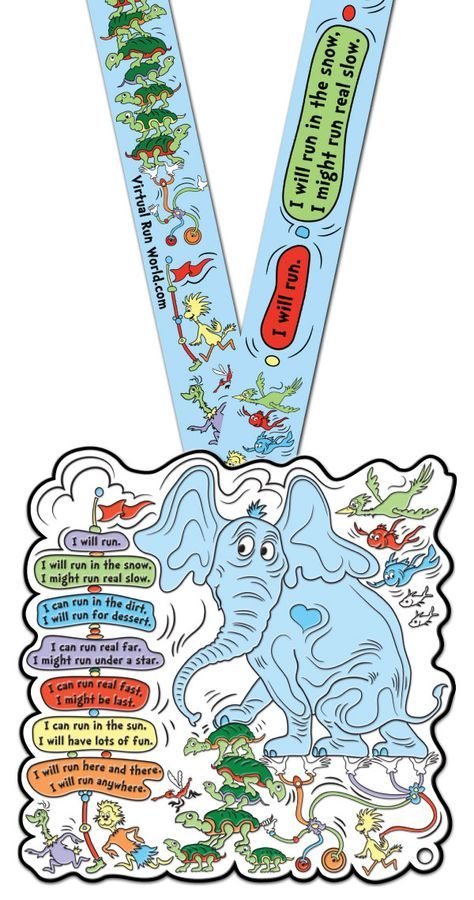I WILL RUN, $28.00, FREE US SHIPPING!! Large 6 inch Seuss-a-licious inspired virtual run medal. Perfect motivation for your training runs! We'd love to have you join us! http://virtualrunworld.com/i-will-run-virtual-run-medal/ EARN any of our Virtual Run World medals by running, walking, biking or multiple other ways! Easy, with no close dates or posting of results, just purchase and receive in mail! Great motivation and rewards for PR and training runs, especially runDisney!