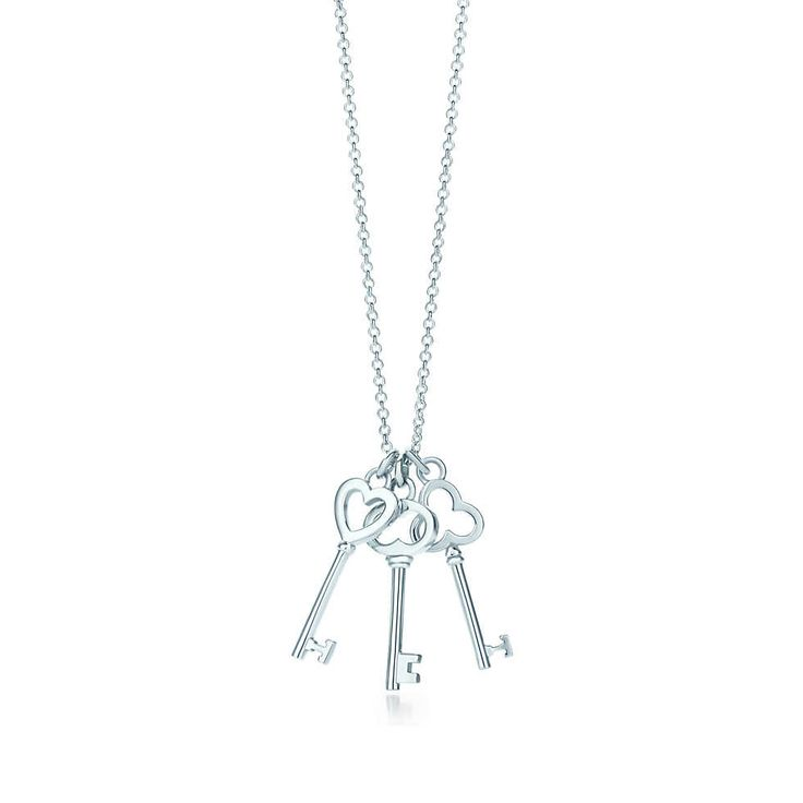 For your bridesmaids - Tiffany Keys mini three-key pendant in sterling silver. | Tiffany & Co.