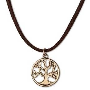 Women's Choker Necklace With Tree Pendant-Gold : Target