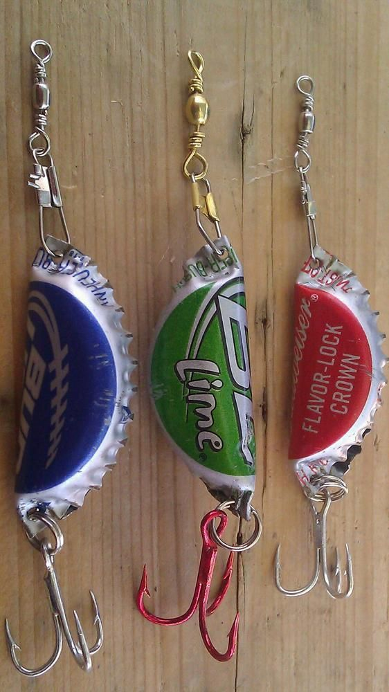 BOTTLE CAP FISHING LURE (RATTLES). This is what men would do if men craft days existed but they don't