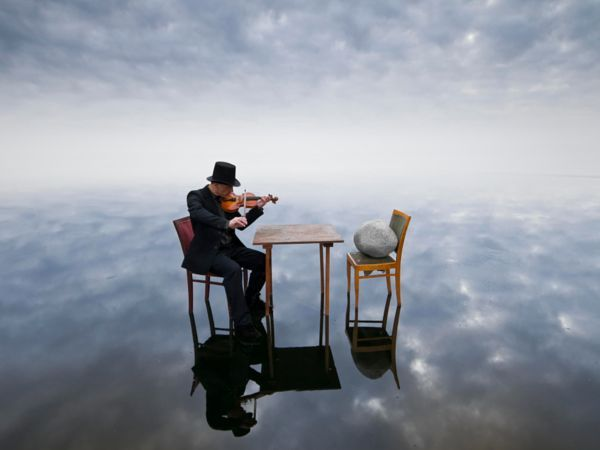 A lone musician