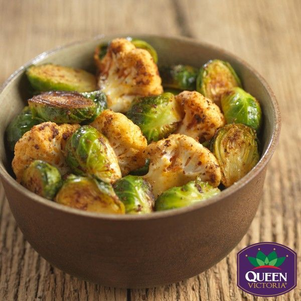 Oven Roasted Brussels Sprouts with Cauliflower - Produce Made Simple