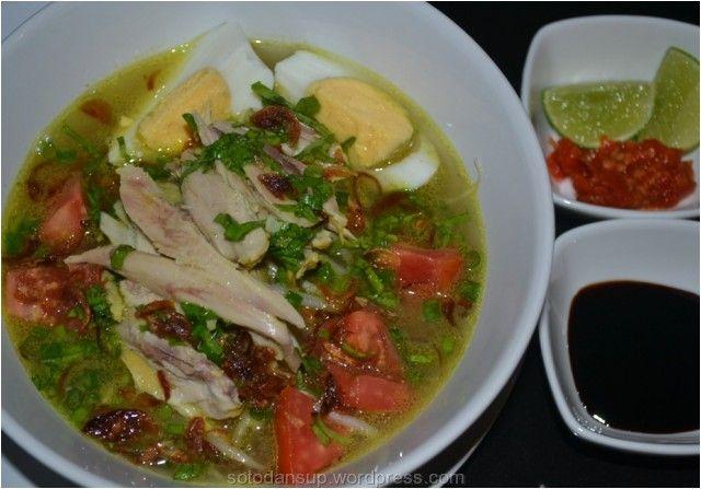 Resep Soto Ayam Kuah Kuning Khas Cirebon   Aneka Resep Soto dan Sup