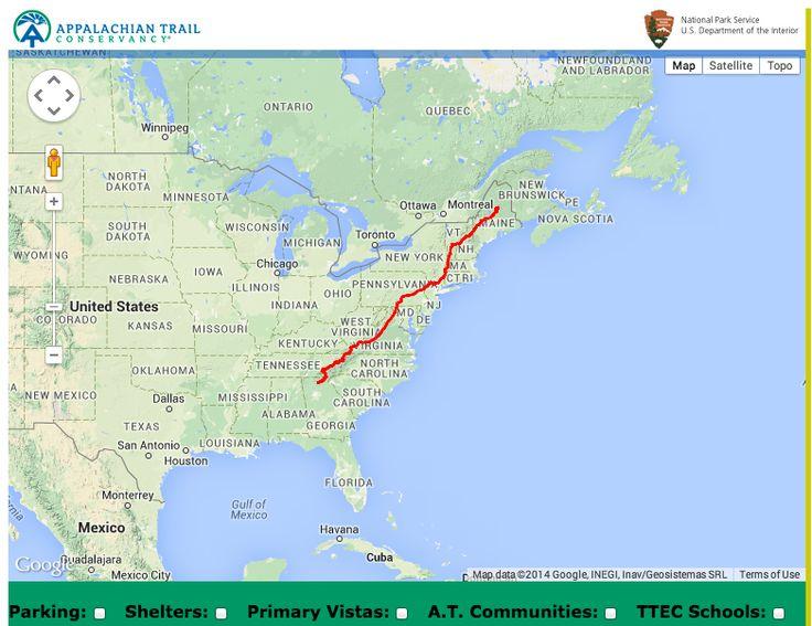 Appalachian Trail Interactive Map Site