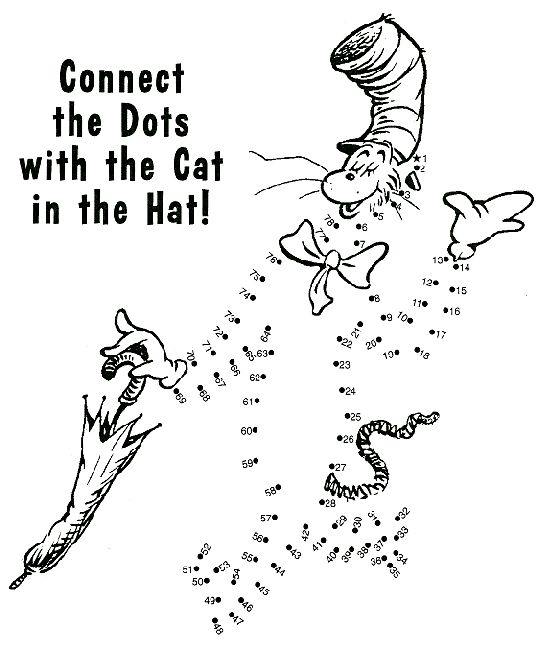 seuss cat in the hat connect the dots