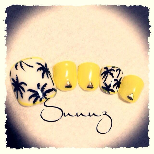 Yellow nail art #nails