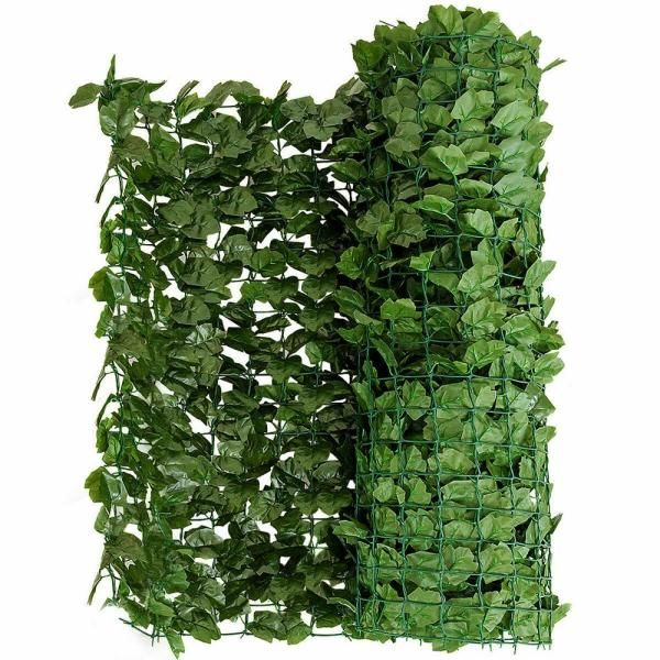 Costway 59 In X 118 In Faux Ivy Leaf Decorative Privacy Fence Screen Artificial Hedge Fencing Gt3048 The Home Depot In 2020 Artificial Hedges Faux Greenery Outdoor Fence Screening