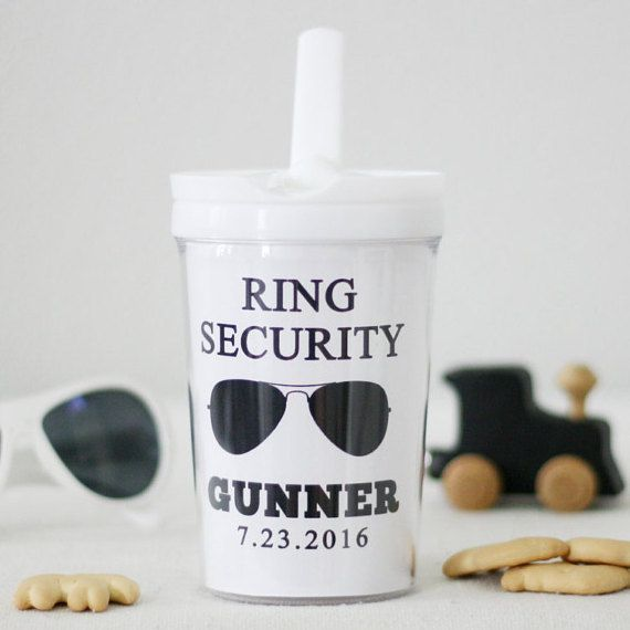 Ring Bearer Gift Personalized tumbler or sippy cup by SwankySips