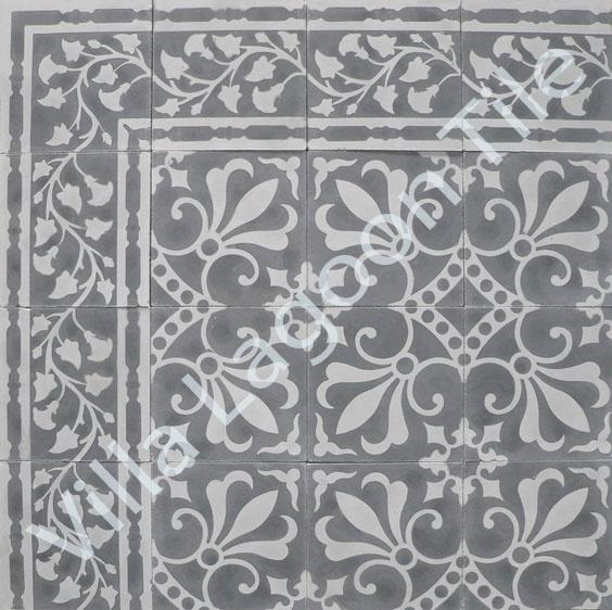 dark Moroccan floor tile fantasy for my kitchen