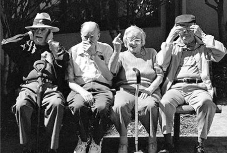 Growing old graciously     (looks like me in the middle)