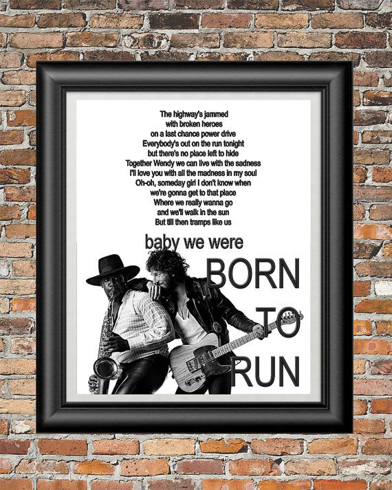 Born To Run by Bruce Springsteen printable by PrintableSongParts