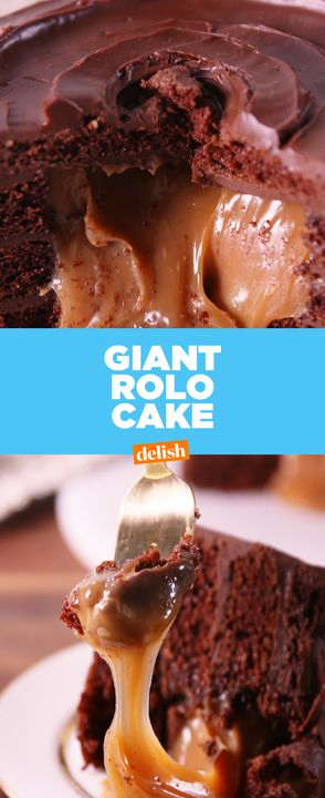 If you thought Rolos were addicting, just wait until you try this massive cake. Get the recipe from Delish.com.